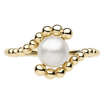 Effervescence White Mini Pearl Ring (£350.00).  Luxuriate in the seemingly never-ending succession of glorious 18ct gold droplets entwined around the central pearl motif in this Effervescence White Mini Pearl Ring. Designed for an effortlessly elegant look, combine with the yellow and rose gold versions for a contemporary twist on a timeless classic.
