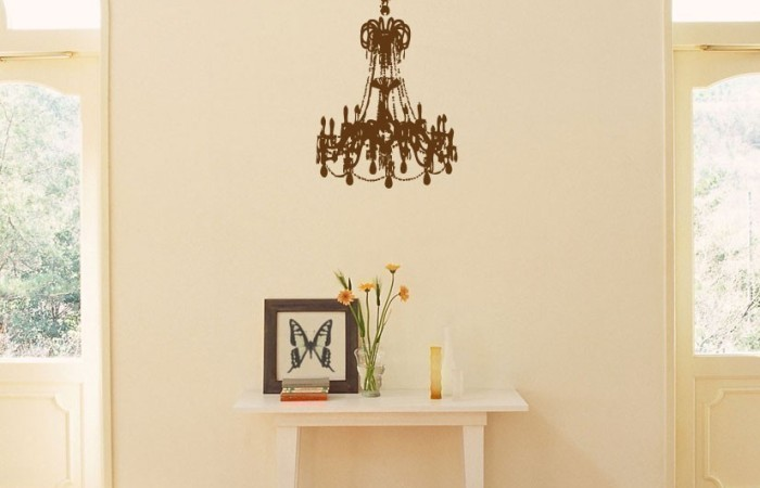My Chic Chandelier Wall Decal + A Blog Give-Away!