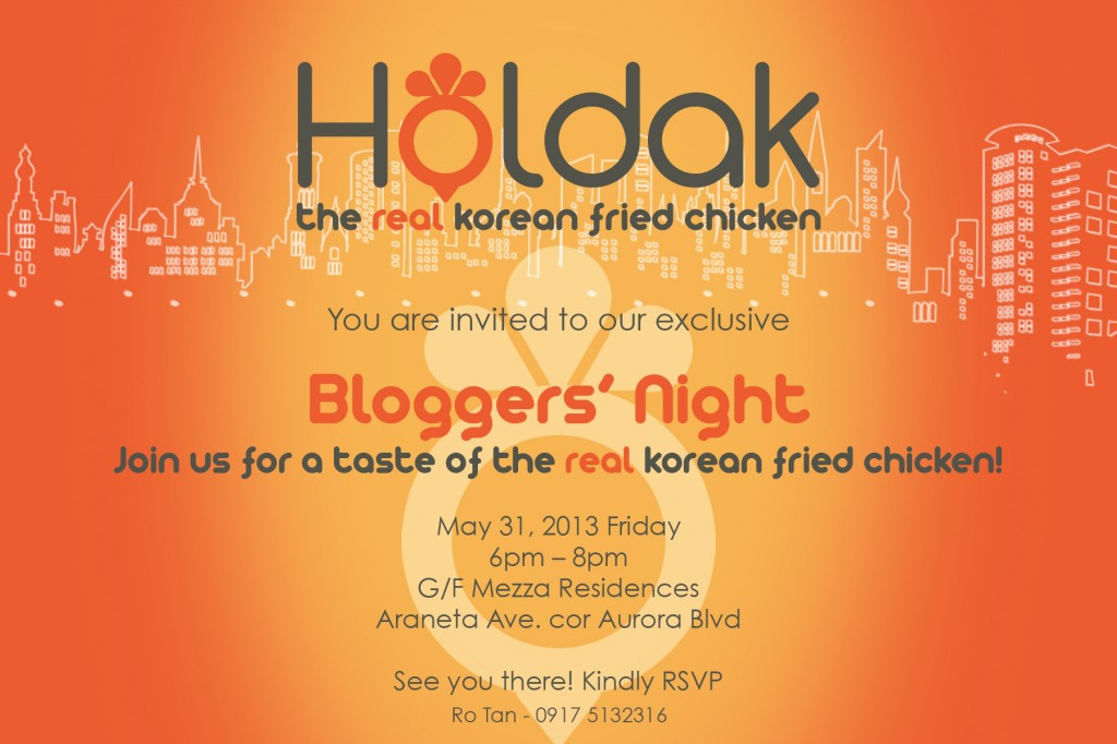 Bloggers Night Invitation