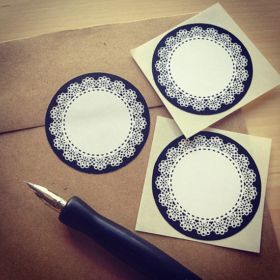 Doily Sticker Labels
