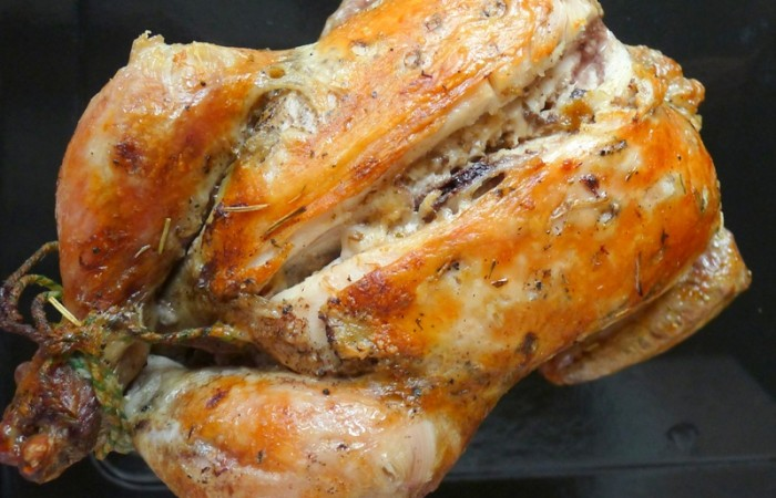 Roasted Chicken Stuffed with Cream of Mushroom