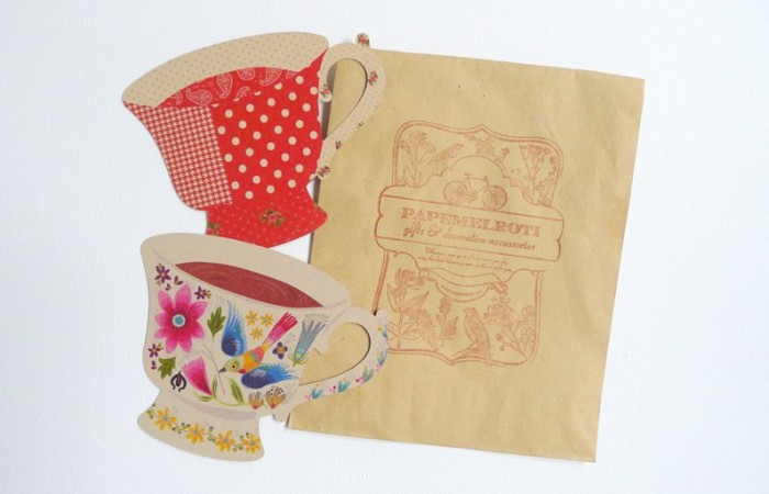 Tea Cup Gift Tags from Papemelroti