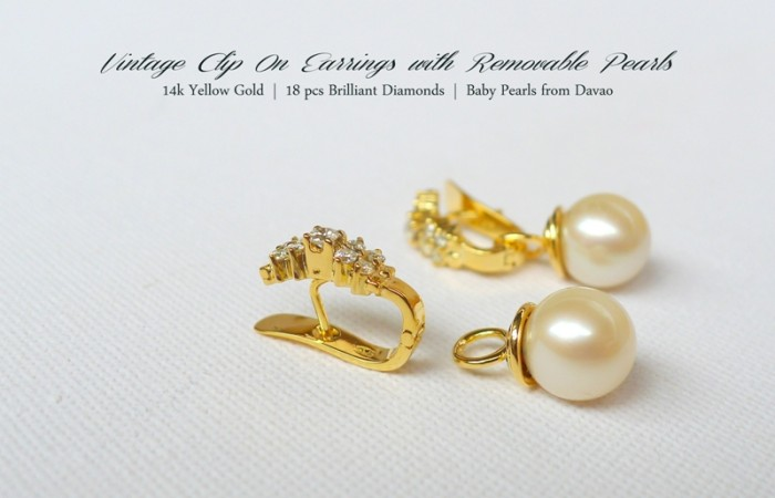 Pre-Christmas Jewelry Sale: Vintage Earrings with Detachable Pearls