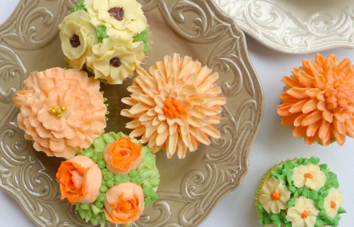 Flower Bouquet Cupcakes