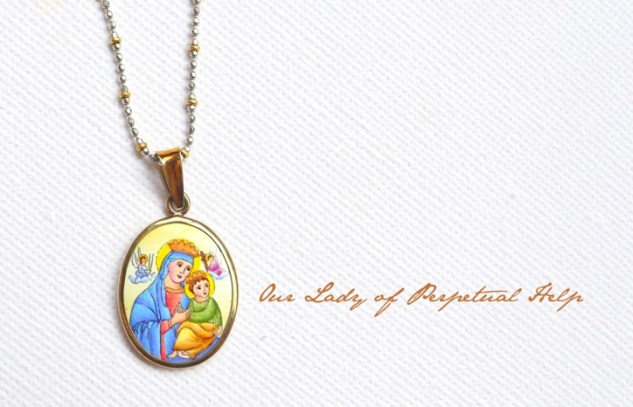 Flash Sale: Our Lady of Perpetual Help Enamel Pendant