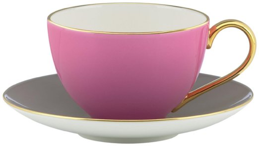 Kate Spade New York Greenwich Grove Teacup and Saucer Set in Pink and Grey ($50 to $60 in Amazon)