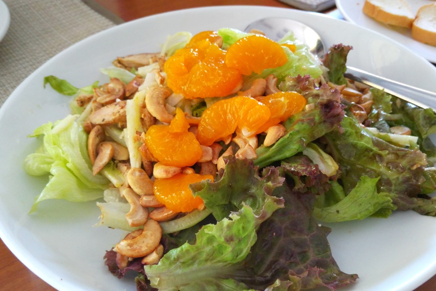 Mandarin Chicken Salad (Php270.00). Good for sharing.