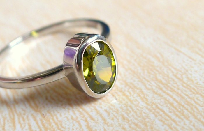 Stackable Ring Series:  Garnet and Peridot
